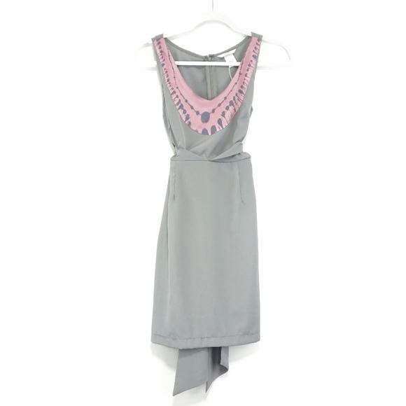 Esley Dresses & Skirts - Esley Grey and Pink Silky Tie Die Dress